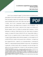 Julie Sorbier Rawls - Le modernisme espagnol dans la prose de fiction état de la question