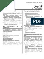 Introducción A La Economía De La Empresa (Uned) - La Planificación