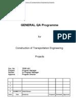 QA Programme Rev.3 ,TERF