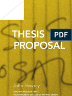 Howrey Thesis Proposal