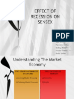 Effect of Recession on Sensex