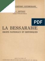 G.I. Bratianu - La Bessarabie Droits Nationaux Et Historiques - 1943