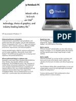 HP Elitebook 8460p Datasheet