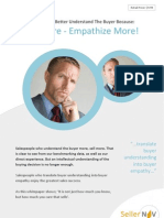 To Sell More - Empathize More!