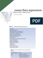 Examen Segmentario Cabeza y Cuello parte 1
