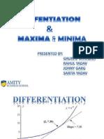 Differentiation & Maxima & Minima