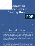 Inprocess Inspection - Sewing