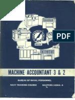 USN Machine Accountant Training 1966