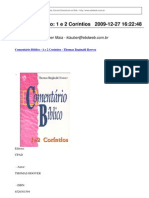 EBDweb, Escola Dominical na Web - Comentário Bíblico- 1 e 2 Coríntios
