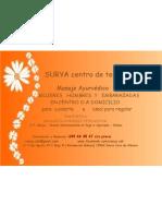 Publicidad Masaje Ayurvédico