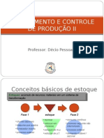 PCP II - Gestão de Estoques