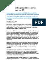 3.200 Doentes Psiquiátricos Serão Desinternados Em São Paulo -