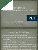 ESTUDIO DE ESÓFAGO-ESTOMAGO-DUODENO luis 2012