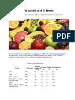 Câte calorii sunt în fructe