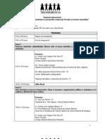 Programa Seminario Internacional Lima, Perú