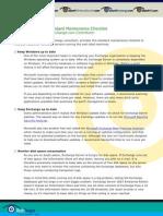 Exchange Maintenance Checklist