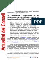Implantación sistema sanitario público-privado en Comunidad Valenciana