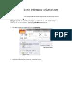 Configurando o Email rial No Outlook 2010