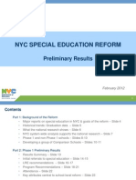 Results From City's Special Education Reforms Pilot Program