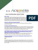 Java Interview Questions Part 1