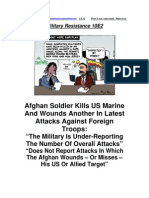 Military Resistance 10E2 Command Hiding Afghan Attacks