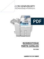 Ricoh Mpc2000 Parts Catalog