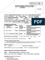 General Nursing Admission Form
