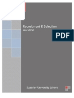 Recruitment & Selection (Post Mid)