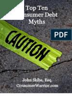 Top Ten Consumer Debt Myths