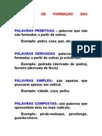 111- revisão - processos de formação de palavras + exercícios