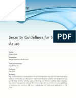 Security Guidelines for SQL Azure