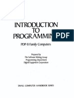 Intro to Programming 1969