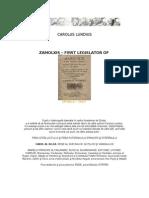 Zalmoxis Primus Getarum Legislator