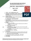 NSJ Fire District Meeting Agenda 05/15/2012