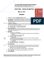 NSJ Fire District Meeting Agenda 05/15/2012