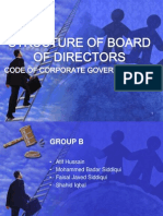 STRUCTURE OF BOARD OF DIRECTORS
