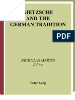 9724321 Nicholas Martin Nietzsche and the German Tradition