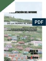 Red Paz y CAIK Presentan Informe CRS