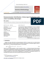 Kumaraswamy's distribution A beta-type distribution with