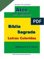 Bíblia Sagrada Atos Letras Coloridas