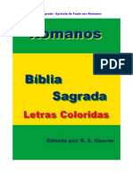 Bíblia Sagrada Romanos Letras Coloridas