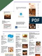Brochure for Resturant Guide