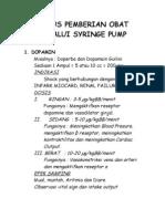 Rumus Pemberian Obat Melalui Syringe Pump