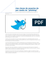 Roban Claves Usuarios de Twitter Por Phishing 2012