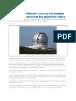 Telescopio Observa Tormentas de Arena en El Espacio 2012