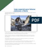 Traje Espacial Para Futuras Misiones a Marte 2012