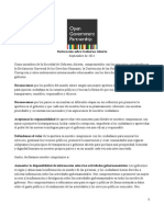 Declaración de Principios OGP