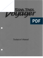 Star Trek - Voyager Technical Manual 40 Pages (1994)