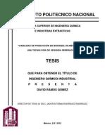 Tesis Biodiesel de Segunda Generacion en Mexico