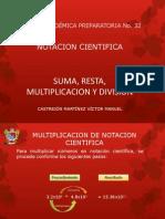 Operaciones Básicas en Notacion cientifica